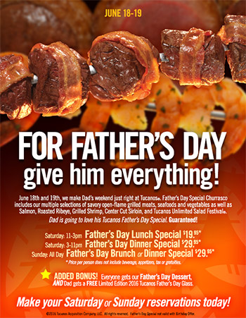 For Father's Day Give Him Everything!