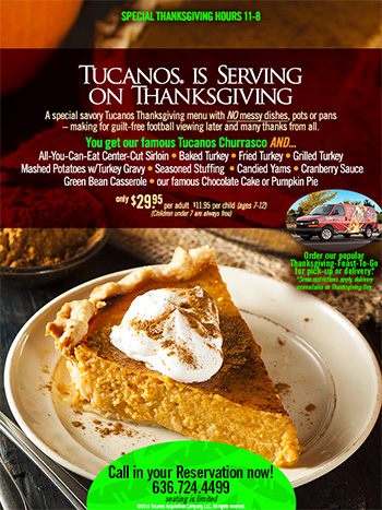 Tucanos is Serving on Thanksgiving!