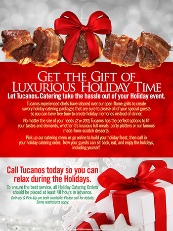 Tucanos Holiday Catering