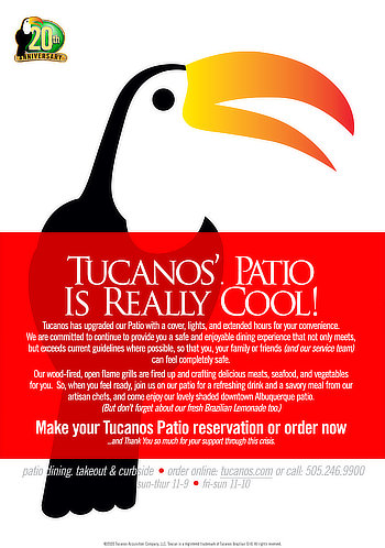 Tucanos' Patio is Really Cool!