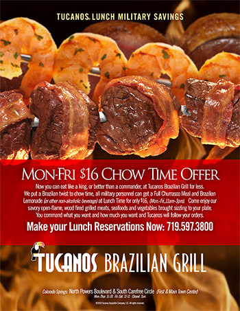 Tucanos Military Lunch Special