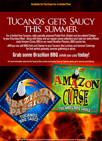 Tucanos Gets Saucy This Summer