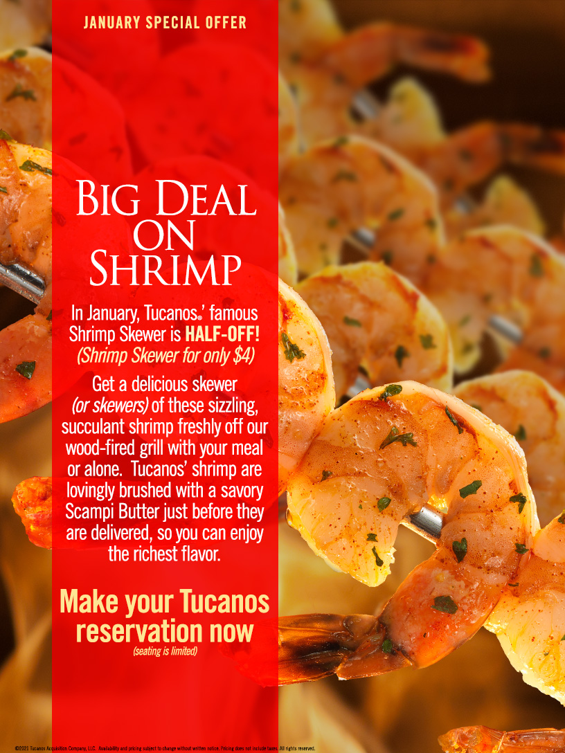 Tucanos Shrimp Skewer Promotion